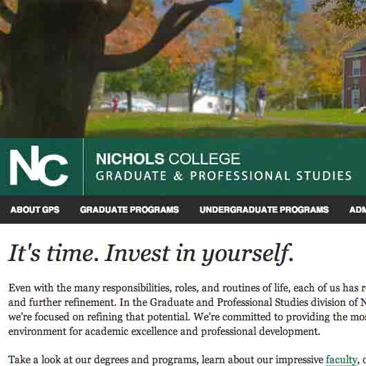 Nichols College Graduate and Professional Studies